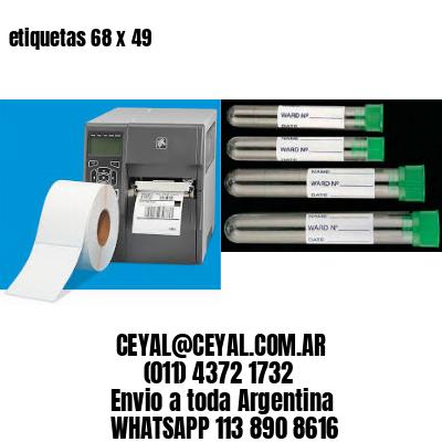etiquetas 68 x 49