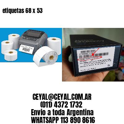 etiquetas 68 x 53