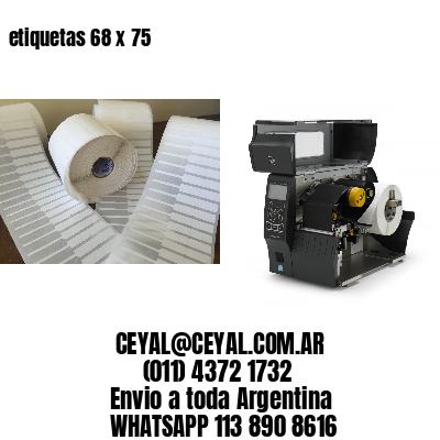 etiquetas 68 x 75