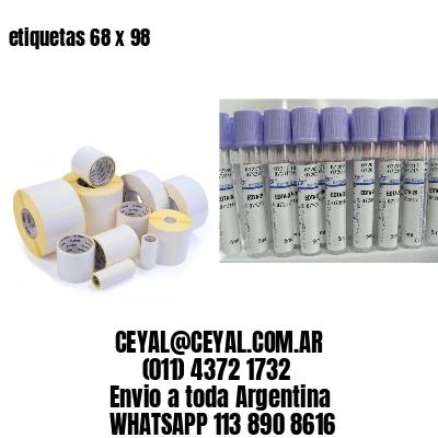 etiquetas 68 x 98