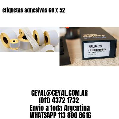 etiquetas adhesivas 60 x 52
