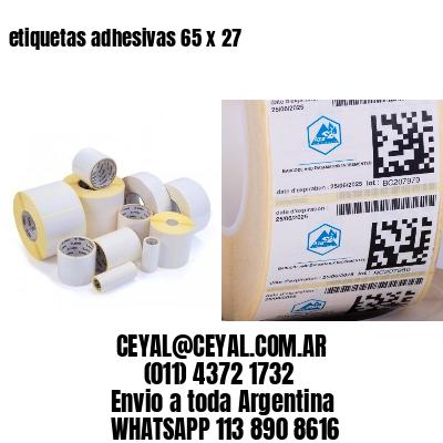 etiquetas adhesivas 65 x 27