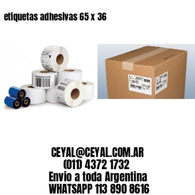 etiquetas adhesivas 65 x 36