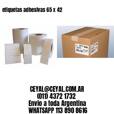 etiquetas adhesivas 65 x 42