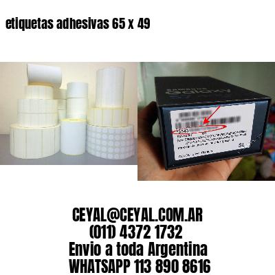 etiquetas adhesivas 65 x 49