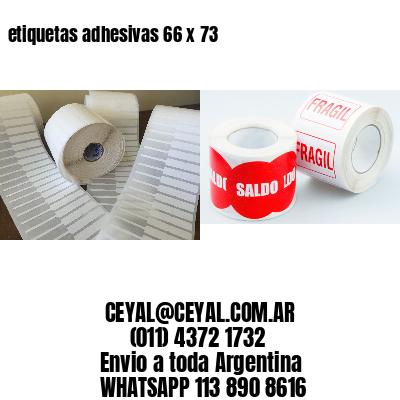etiquetas adhesivas 66 x 73