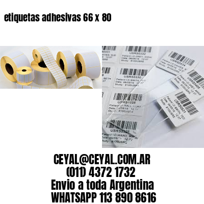 etiquetas adhesivas 66 x 80