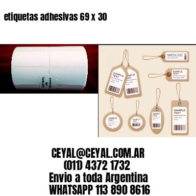 etiquetas adhesivas 69 x 30