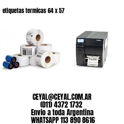 etiquetas termicas 64 x 57