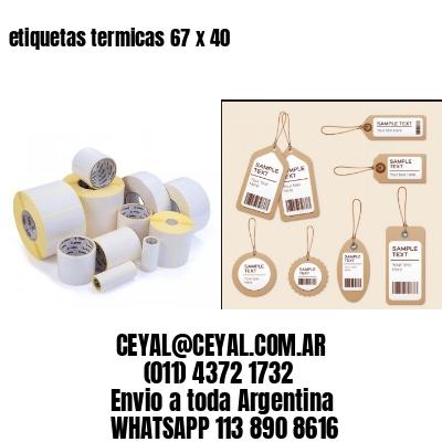 etiquetas termicas 67 x 40