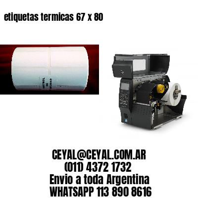 etiquetas termicas 67 x 80