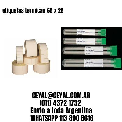 etiquetas termicas 68 x 28