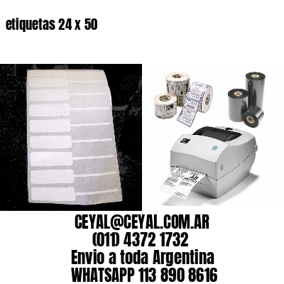 etiquetas 24 x 50