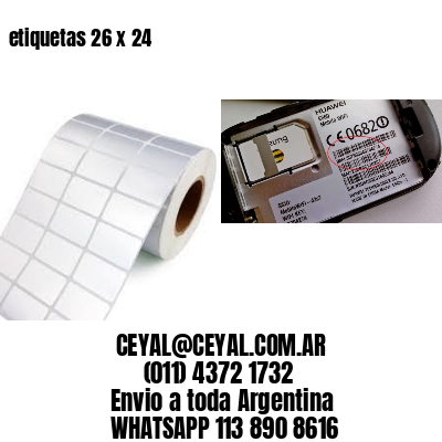 etiquetas 26 x 24