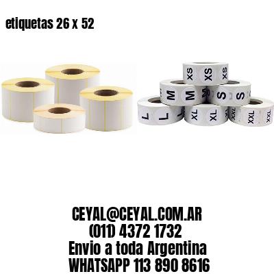 etiquetas 26 x 52