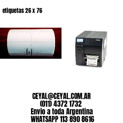 etiquetas 26 x 76
