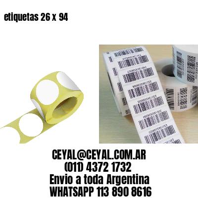 etiquetas 26 x 94