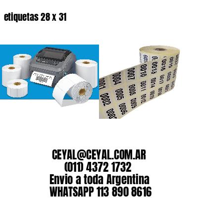 etiquetas 28 x 31