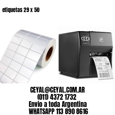 etiquetas 29 x 50
