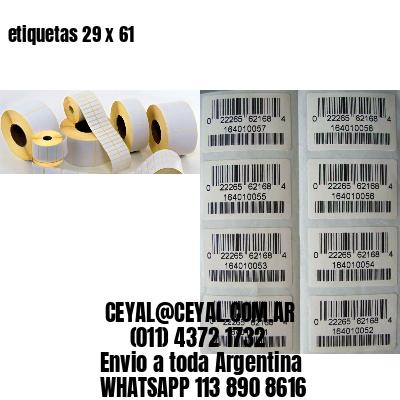 etiquetas 29 x 61