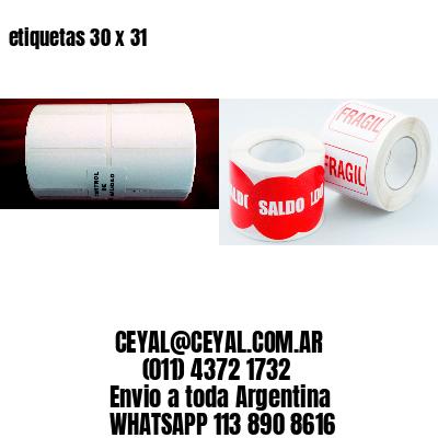 etiquetas 30 x 31