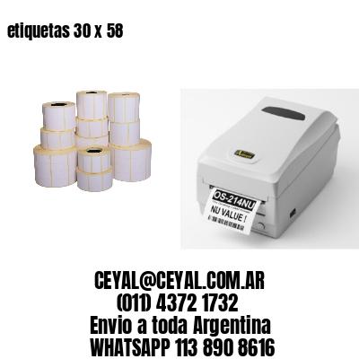 etiquetas 30 x 58