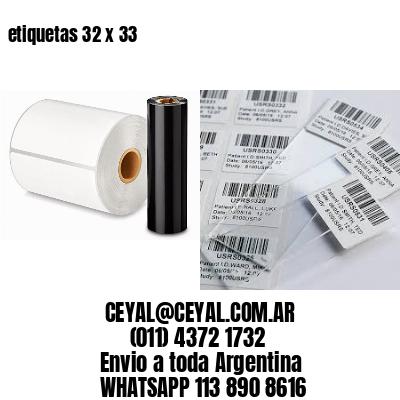 etiquetas 32 x 33