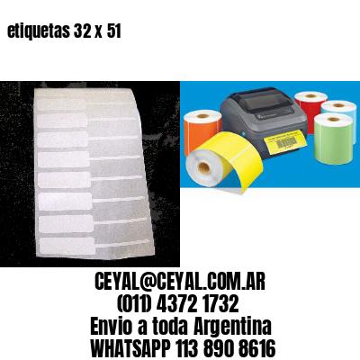 etiquetas 32 x 51