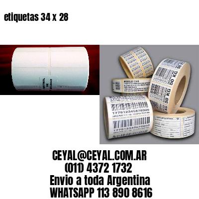 etiquetas 34 x 28