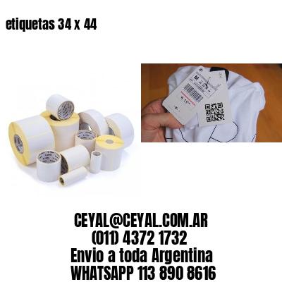 etiquetas 34 x 44