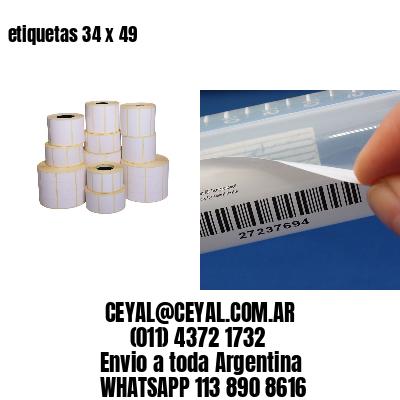 etiquetas 34 x 49
