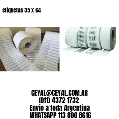 etiquetas 35 x 64