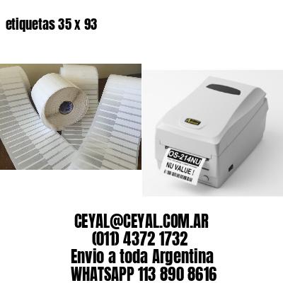 etiquetas 35 x 93