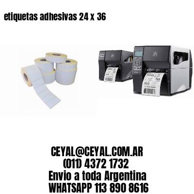 etiquetas adhesivas 24 x 36