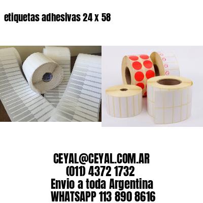 etiquetas adhesivas 24 x 58
