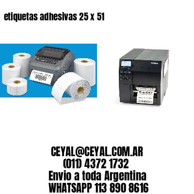 etiquetas adhesivas 25 x 51