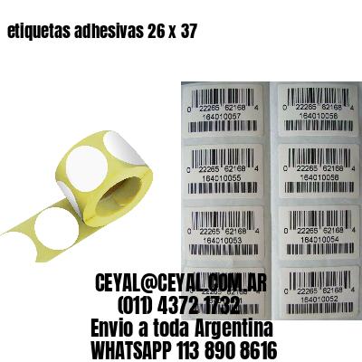 etiquetas adhesivas 26 x 37