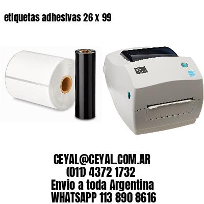 etiquetas adhesivas 26 x 99