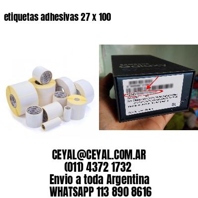 etiquetas adhesivas 27 x 100