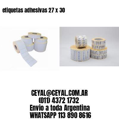 etiquetas adhesivas 27 x 30