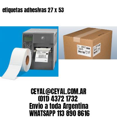 etiquetas adhesivas 27 x 53