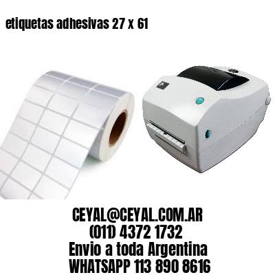 etiquetas adhesivas 27 x 61