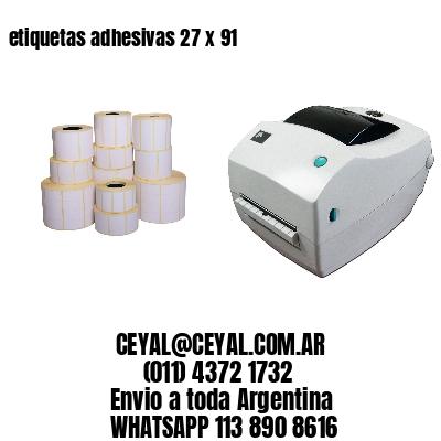 etiquetas adhesivas 27 x 91