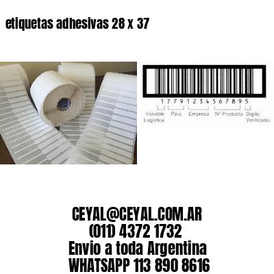 etiquetas adhesivas 28 x 37