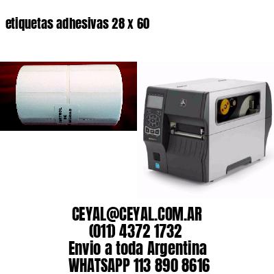 etiquetas adhesivas 28 x 60