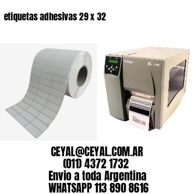 etiquetas adhesivas 29 x 32