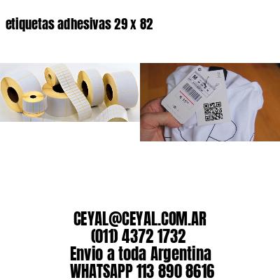 etiquetas adhesivas 29 x 82