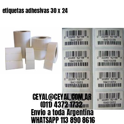 etiquetas adhesivas 30 x 24