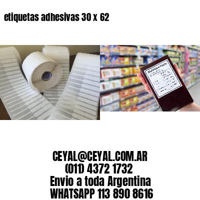 etiquetas adhesivas 30 x 62