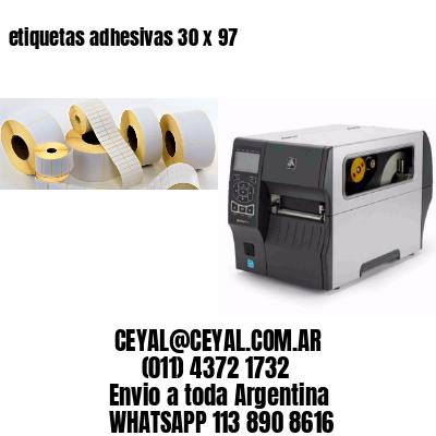 etiquetas adhesivas 30 x 97